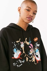 Junk Food Ren And Stimpy Hoodie Sweatshirt Black