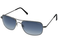 Randolph Archer 59Mm Dark Ruthenium Polished Blue Gradient Nylon Fashion Sunglasses Black