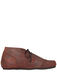 Peter Non Waxed And Brushed Suede Chukka Boots Red