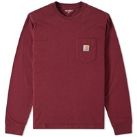 Carhartt Long Sleeve Pocket Tee Red