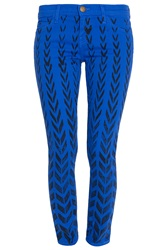 Current Elliott Chevron Print Skinny Ankle Jean