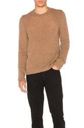 Maison Martin Margiela Jersey Pullover Sweater In Brown