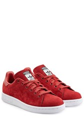 Adidas Originals Stan Smith Suede Sneakers Red