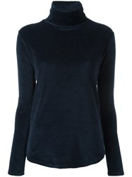 Majestic Filatures Turtle Neck Jumper Blue