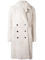Joseph 'Elena Island' Double Breasted Coat White