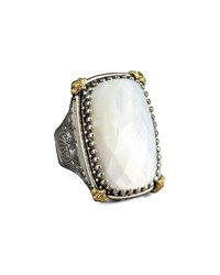 Rectangular Mother Of Pearl Selene Ring Konstantino