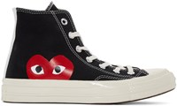 Comme Des Garcons Play Black Converse Edition High Top Sneakers