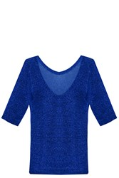 Missoni Lurex Basic Knit Blue