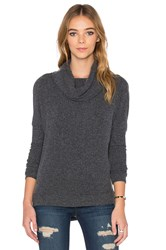 Chaser Drape Back Cowl Neck Dolman Sweater Charcoal