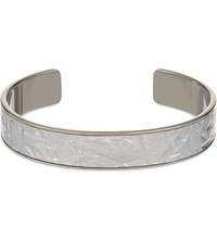 Aspinal Of London Cleopatra Skinny Crinkled Inlay Cuff Bangle M Silver