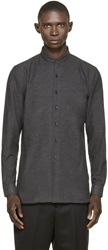Naked And Famous Charcoal Brushed Cotton Shirt