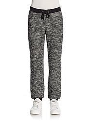 Eileen Fisher Knit Jogger Pants Black White
