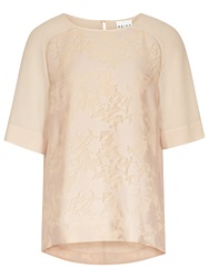 Reiss Spira Lace Top Nude
