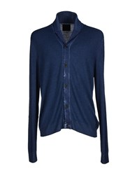 Guess Knitwear Cardigans Men Slate Blue