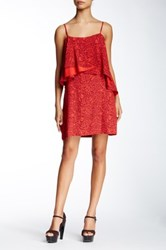 Twelfth St. By Cynthia Vincent Popover Mini Dress Red