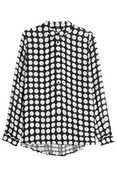 Steffen Schraut Polka Dot Blouse With Pleated Back Multicolor