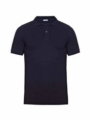 Tomas Maier Dip Dye Cotton Pique Polo Shirt