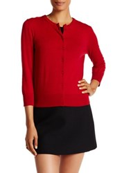 Cable And Gauge Jackie O Cardigan Red