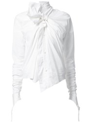 Aganovich Bow Detail Blouse White