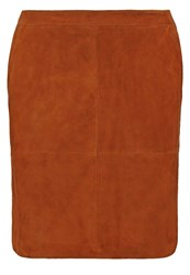 Part Two Clarke Mini Skirt Leather Brown Cognac