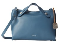 Skagen Mini Mikkeline Satchel Smokey Blue Satchel Handbags