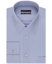 Geoffrey Beene Non Iron Bedford Cord Solid Dress Shirt Ice Blue