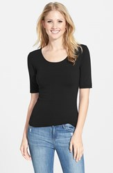 Women's Lotus Effect Reversible Elbow Sleeve Tee Black