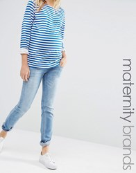 Mama Licious Mamalicious Over The Bump Slim Fit Jean Blue