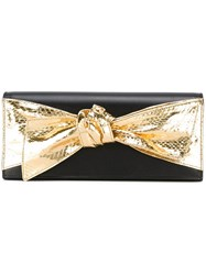 Saint Laurent Bow Front Clutch Black