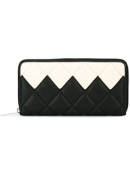Stella Mccartney Quilted Top Zip Wallet Black