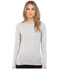 La Perla New Project Long Sleeve Tee Gray Women's T Shirt