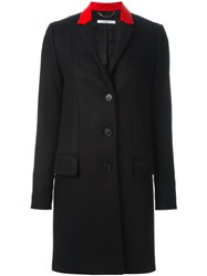 Givenchy Contrast Collar Coat Black