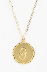 Women's Moon And Lola 'Dalton' Initial Pendant Necklace Gold G