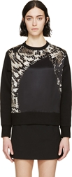 Neil Barrett Black Overized Python Print Sweater