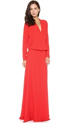 Mason By Michelle Mason Wrap Gown Red