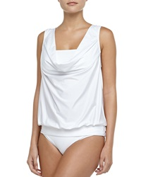 Luxe By Lisa Vogel Fold Over Swim Bottom White