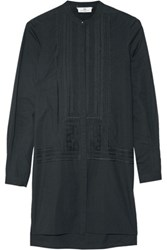 Day Birger Et Mikkelsen Embroidered Cotton Tunic Midnight Blue