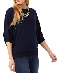 Phase Eight Becca Batwing Sleeve Knit Sweater Navy