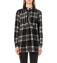 Free People Baby Blues Flannel Tunic Black Combo