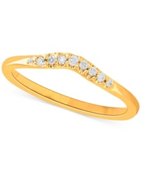 Macy's Diamond Contour Band In 14K Gold 1 10 Ct. T.W. No Color