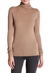 Joie Cenelle Wool And Silk Blend Turtleneck Sweater Brown