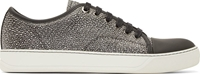 Lanvin Black And White Python Leather Sneakers