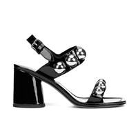 Marc By Marc Jacobs Women's Stevie Leather Block Heeled Sandals Black