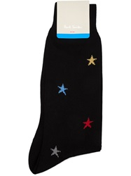 Paul Smith Star Print Socks Black
