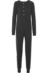 Madeleine Thompson Cashmere Jumpsuit Charcoal