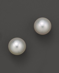 Bloomingdale's White South Sea Cultured Pearl Stud Earrings In 14K Yellow Gold 13Mm