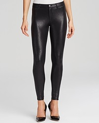 Hue Satin Jersey Metallic Gravel Leggings Black Black