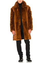 Ann Demeulemeester Sheep Fur Jacket In Brown