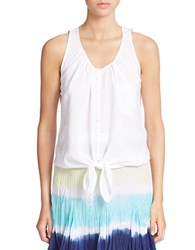 Context Tie Front Tank Top Bleach White