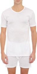 Zimmerli Men's Basic V Neck T Shirt White